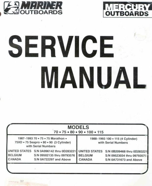 mariner 3.3 owners manual