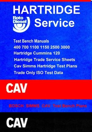 Cav Hartridge service Data Test Plans ISO Data