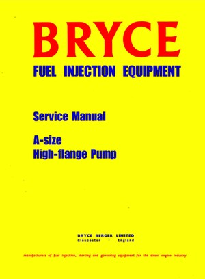 Bryce Fuel Pumps Manuals For Mechanics