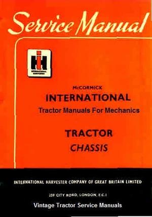 International Harvester Tractor Manuals for Mechanics