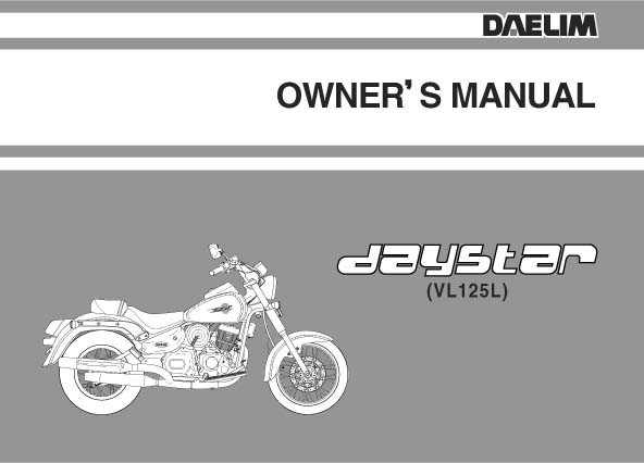Daelim Motorcycles Manuals for Mechanics