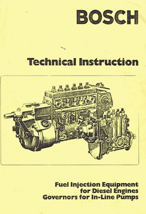 Bosch Vintage Diesel fuel Pump Manuals for Mechanics