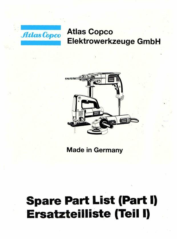 Atlas Capco Small Plant Tools.Mechanics and Tech Doctors Service Parts Manuals