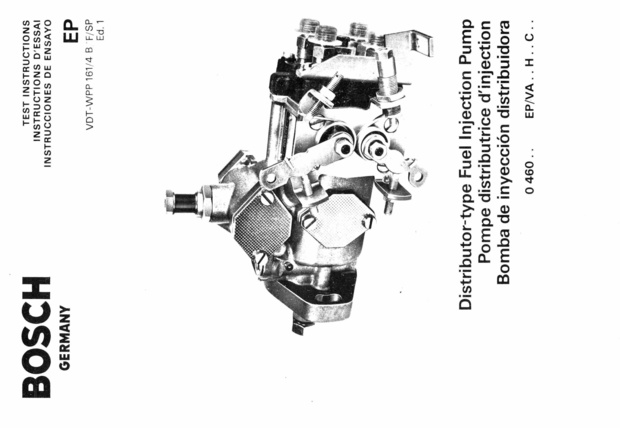 Bosch Diesel fuel Pump Manuals for Mechanics