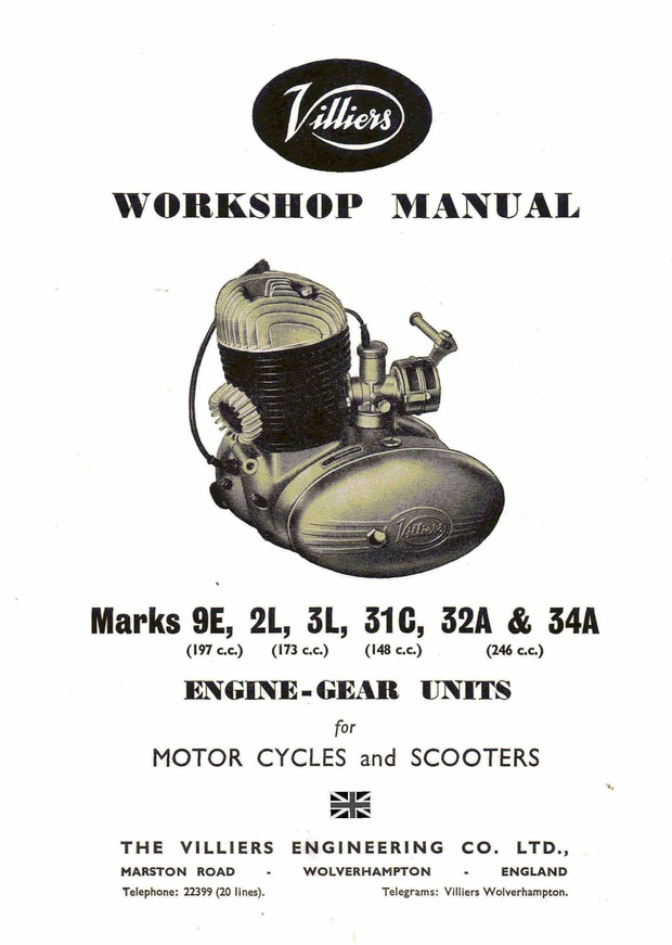Villiers 9e 2L 3L 31c 32A 34A Workshop Service and Repair Manual