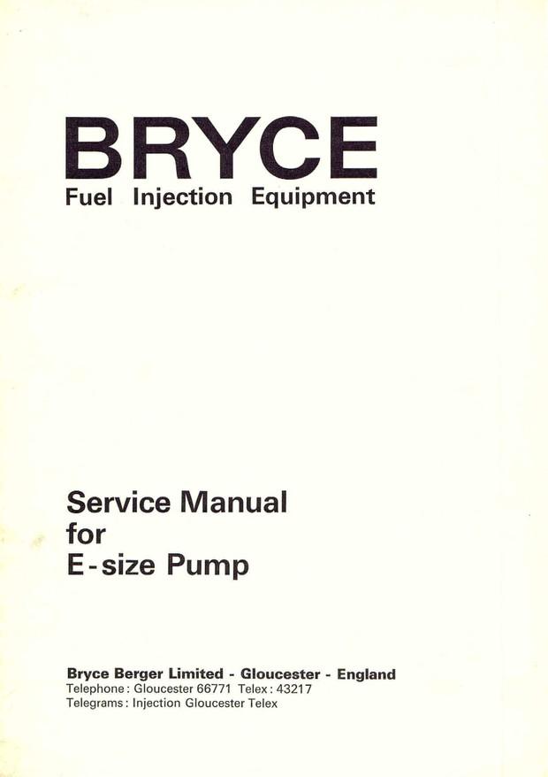 Bryce Fuel Pumps Manuals For Mechanics