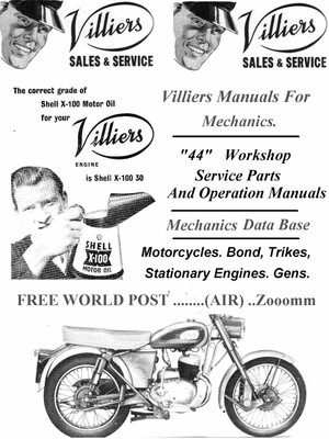 Villiers Carburetter Manuals for Mechanics