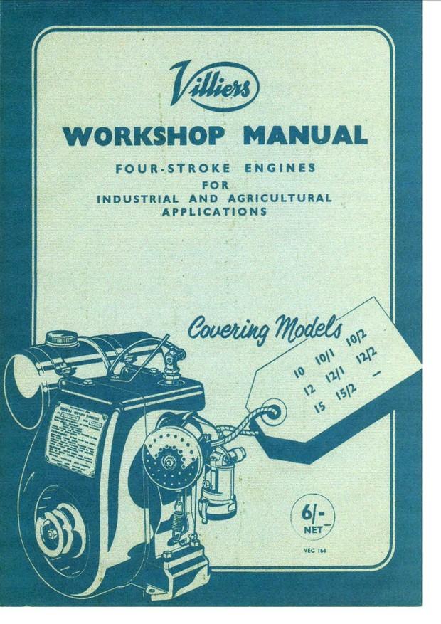 Villiers 10 - 12 - 15 Industrial Engine Workshop Service and Repair Manual