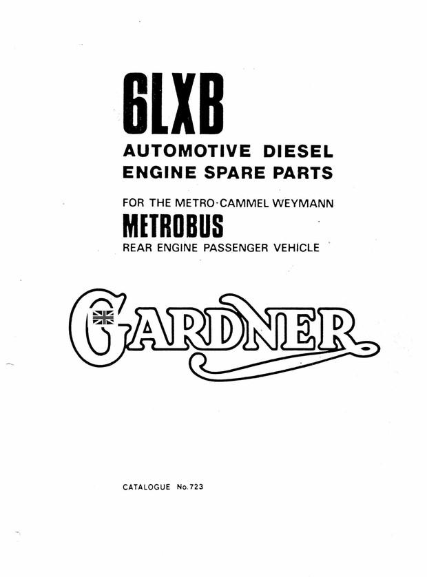 Gardener 6LXB Parts manual  Gardener City Metrobus