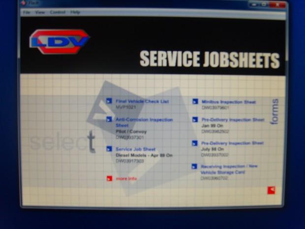 LDV TIS Service system workshop Service Manual