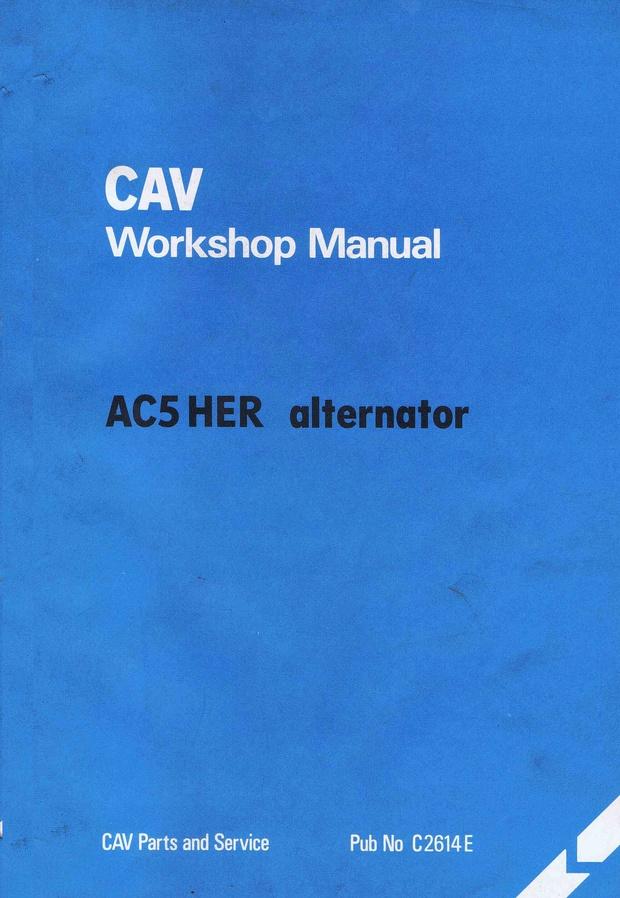 Cav AC5 HER Alternator workshop manual