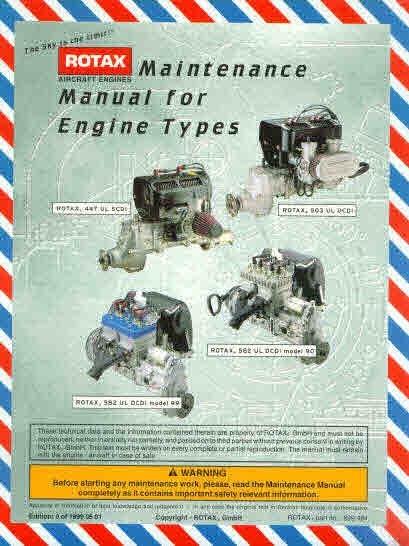 Rotax Aircraft Cart and Motorcycle Snowcat Manuals for Mechanics