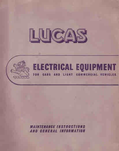 Lucas Electrical Catalog 1970s Cars and Light Commersials Publication Number 1639D