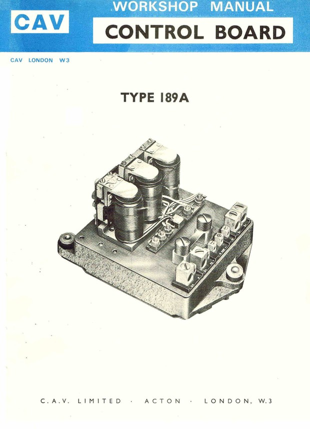 Lucas Cav Controle Board Model 189 ACONTROL BOARD