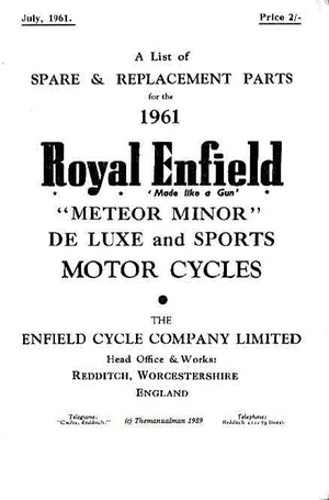 Royal enfield manuals for MC Mechanics