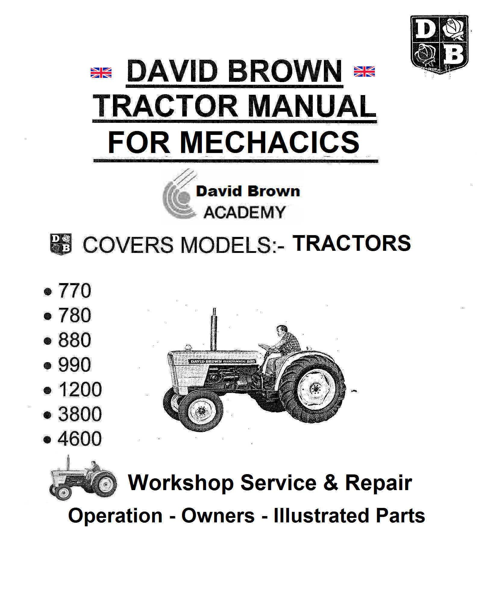 David brown 770 Service manual on