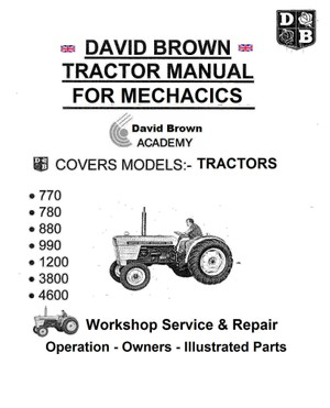 David Brown Tractor Service Manuals for Mechanics