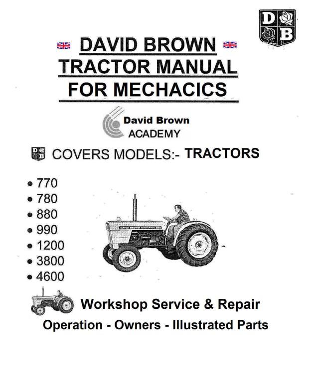 David Brown Tractor Service Manuals for Mechanics