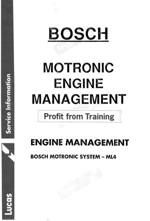 Bosch Monotronic & Jetronic Manuals for Mechanics