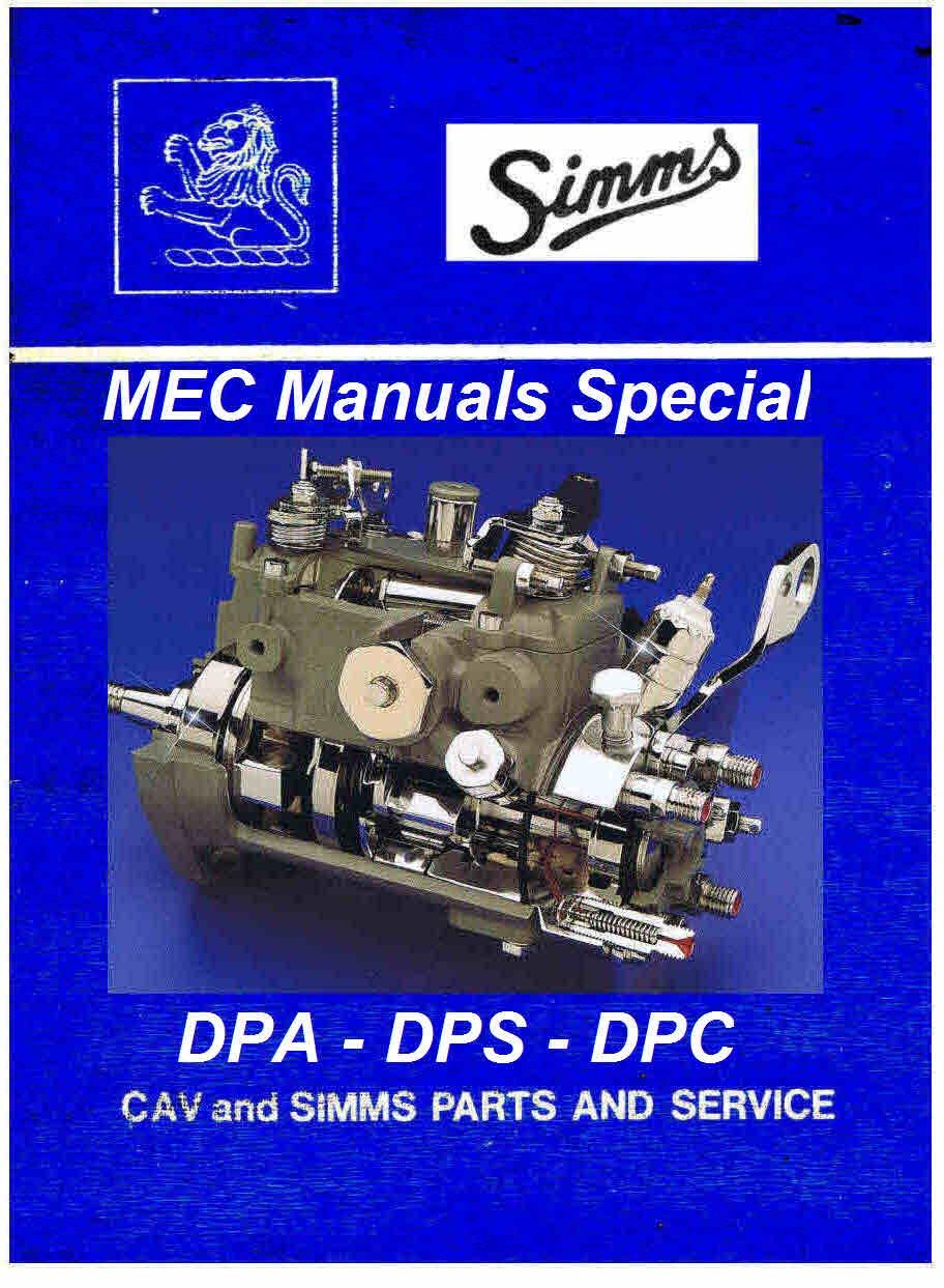 cav mec majormec minimec micromec maximec manual rh sellfy com Lucas CAV Injection Pump Parts Cav Injection Pump Rebuild