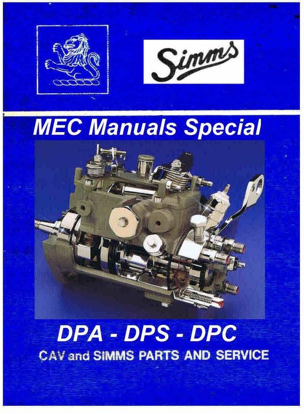 Cav Mec Majormec - Minimec - Micromec - Maximec manuals for Mechanics