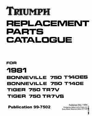 Triumph Twins Service - Parts and Operation Manuals
