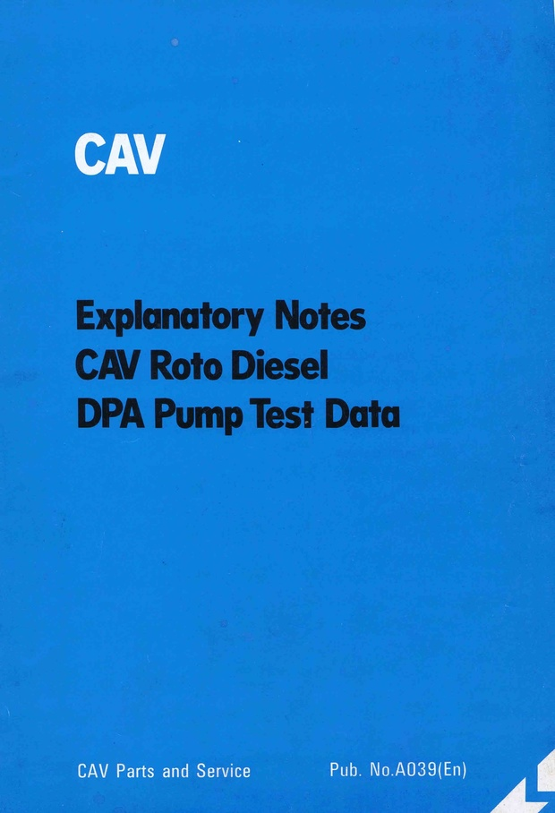 Lucas Cav DPA Service Manuals for Mechanics
