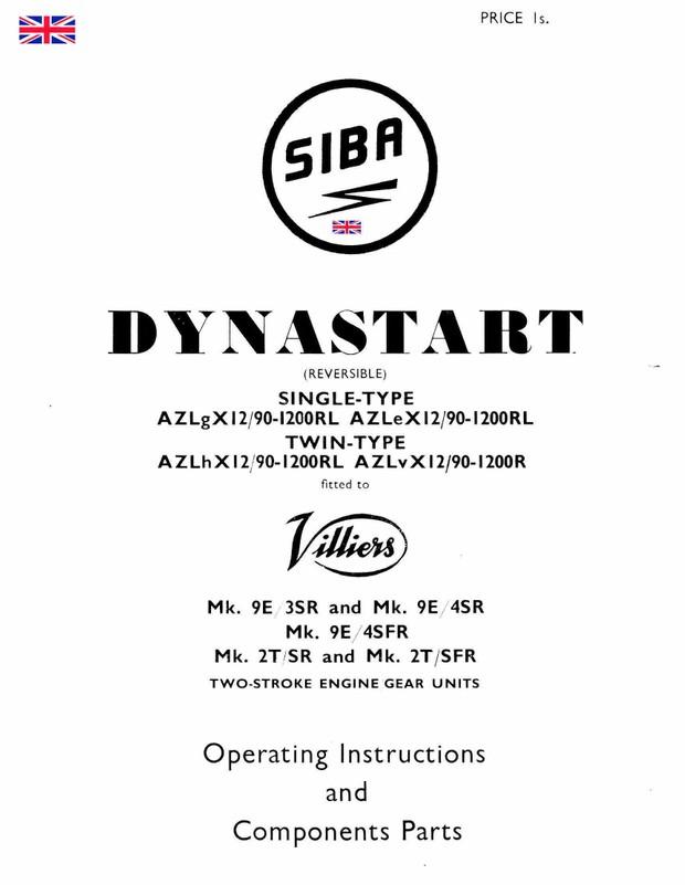 Villiers Siba Dynastart Manuals for Mechanics