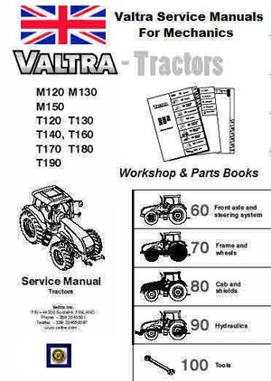 Valtra Tractor Workshop & Parts Manuals for Mechanics
