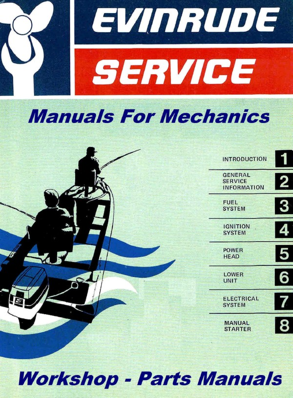 Evinrude Johnson Manuals for mechanics  1.5 Hp through 25 Hp 1968 to 1975