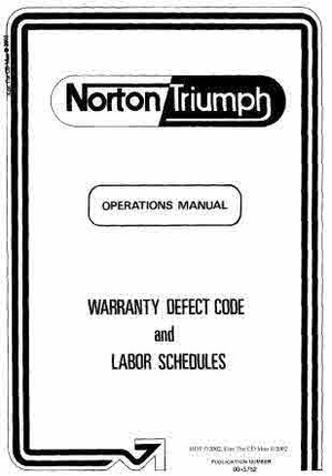 Triumph Tech_Service - Workshop manuals Parts and Operation Books