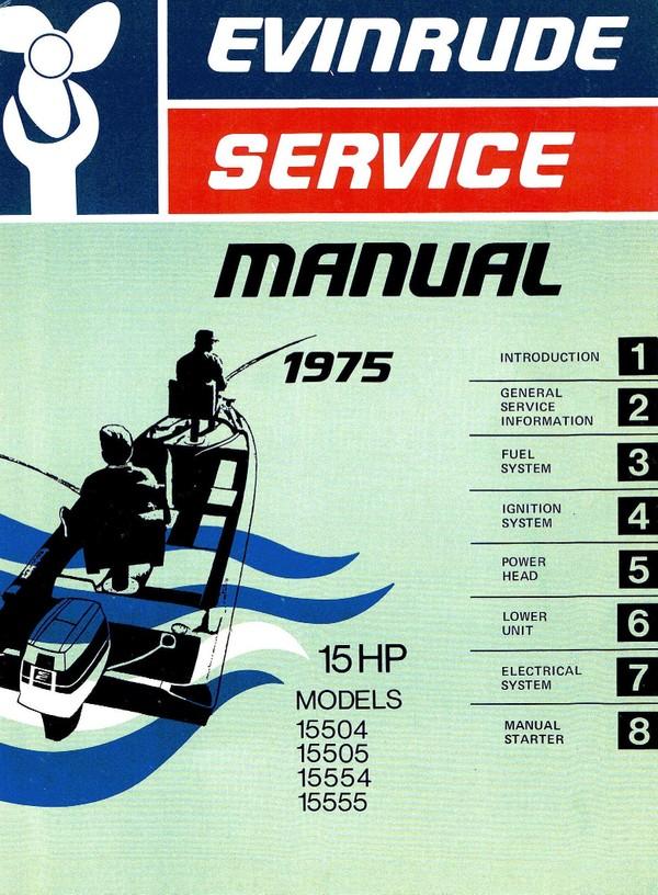Evinrude Johnson 15hp - Models 15504 15505 15554 15555 1975