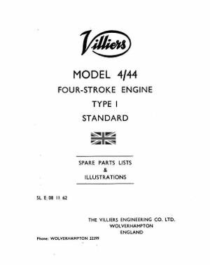 Villiers 4-44 Parts manual 4 stroke stationary engine i