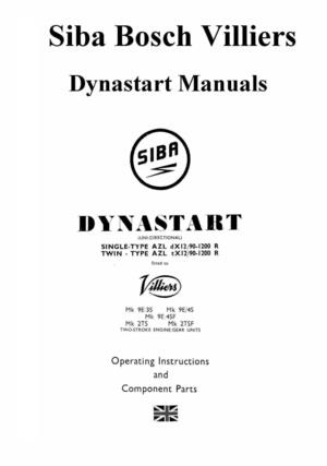 Villiers Dynastart Manuals for Mechanics