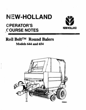 New Holland Rool Belt 664 - 665 Round Bailer