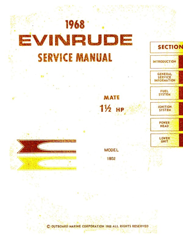 Evinrude Johnson Manual 1.5 mate 1968