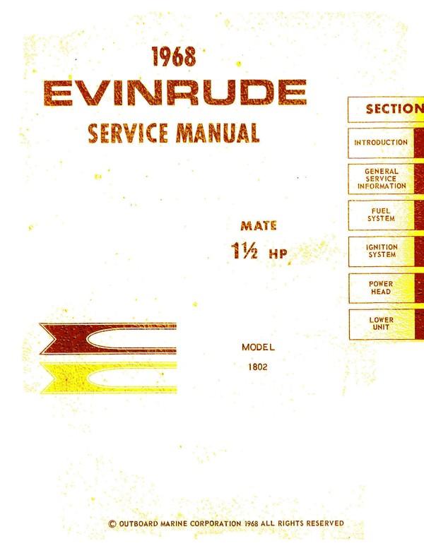 Evinrude Johnson Manual 1.5 mate 1968