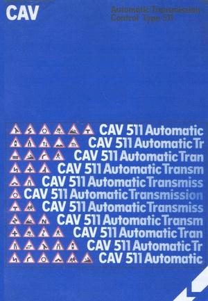 Lucas Cav 551 automatic Transmision Manual