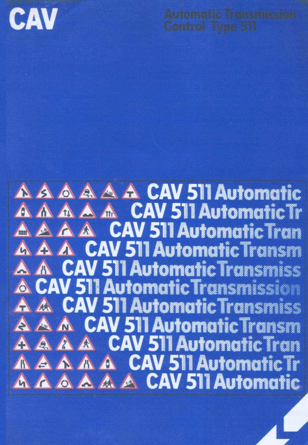 Lucas Cav 551 automatic Transmision Manual