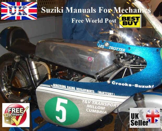 Suzuki Vintage motorcycle manuals for Mechanics