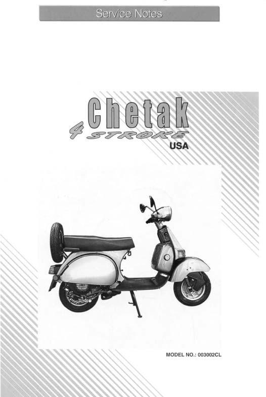 Chetak Scooter Workshop Manuals for Mechanics