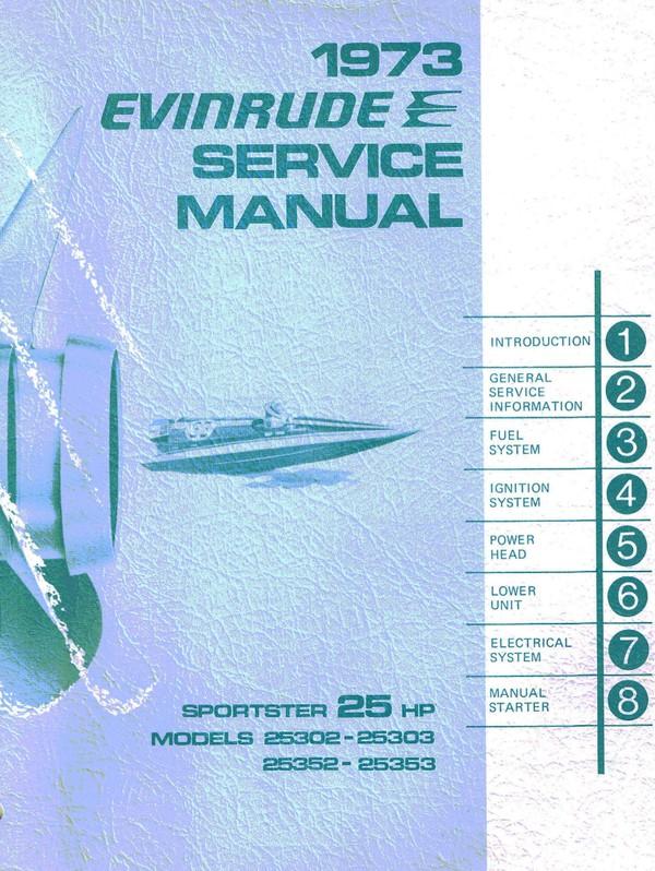 Evinrude – Johnson.1973 25Hp Models 25302 25303 25352 25353