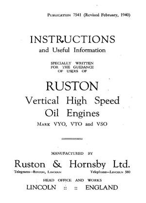 Vintage Truck - Marine - Stationary engines - Manuals  for Mechanics