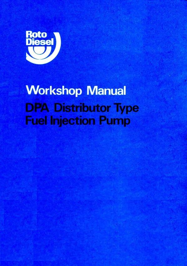 Lucas Cav DPA Service Manuals for Mechanics