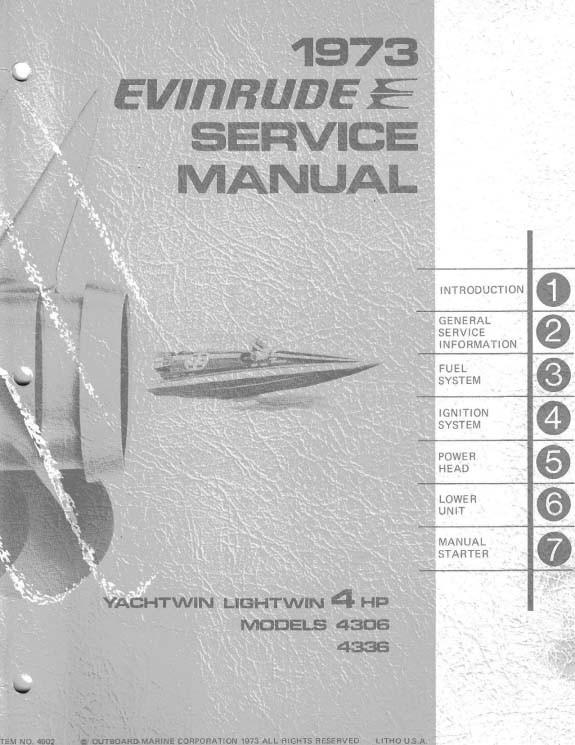 Evinrude 4 hp Lightwin 43 Series 1973