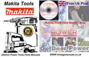 Makita Service Small tool Parts manuals Vol2