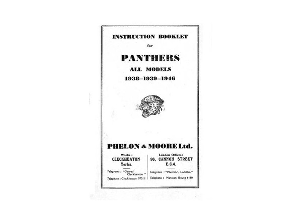 Panther Motorcycle Manuals for Mechanics