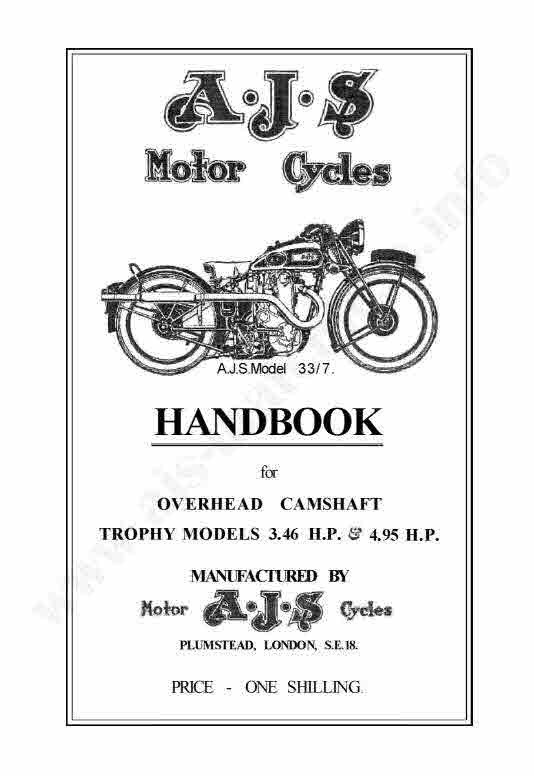 AjS Motorcycles Manuals For Mechanics