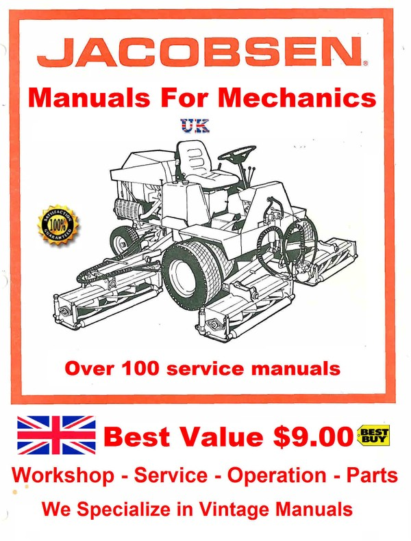 Jacabson Service manuals for Mechanics