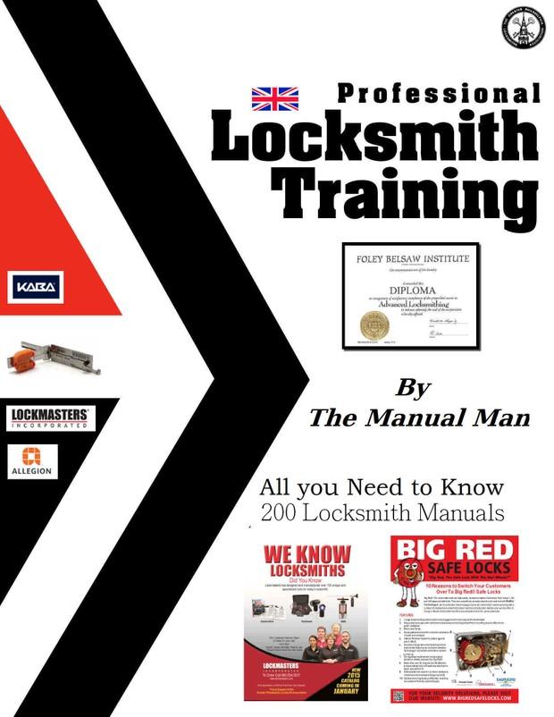 Locksmith Training Manuals 200 Locksmith Manuals